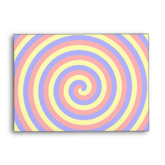Primary Colors. Bright and Colorful Spiral. Envelope