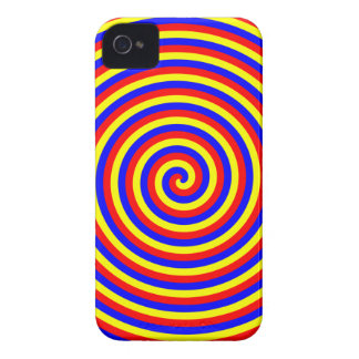 Primary Colors. Bright and Colorful Spiral. iPhone 4 Case-Mate Case