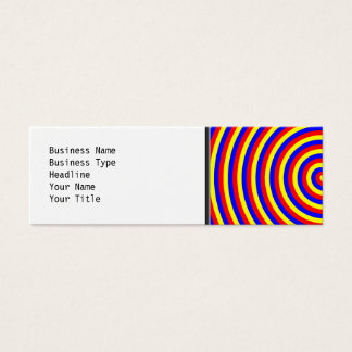 Primary Colors. Bright and Colorful Spiral. Mini Business Card
