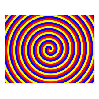 Primary Colors. Bright and Colorful Spiral. Postcard