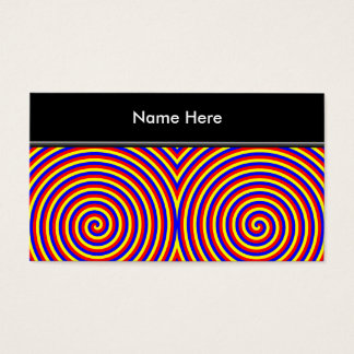 Primary Colors. Bright and Colorful Spirals. Business Card