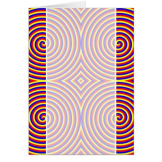 Primary Colors. Bright and Colorful Spirals. Card