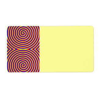 Primary Colors. Bright and Colorful Spirals. Label