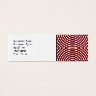 Primary Colors. Bright and Colorful Spirals. Mini Business Card