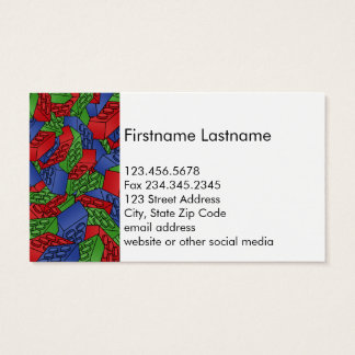 Primary Colors Building Blocks Pattern Business Card