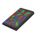Primary Colors Building Blocks Pattern Trifold Wallets