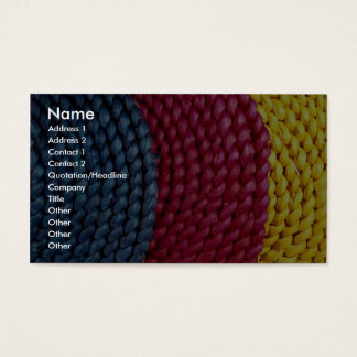 Primary colors business card