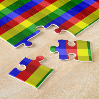 Primary Colors Checks Jigsaw Puzzle