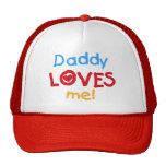 Primary Colors Daddy Loves Me T-shirts and Gifts Mesh Hat