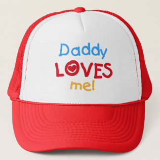 Primary Colors Daddy Loves Me T-shirts and Gifts Trucker Hat