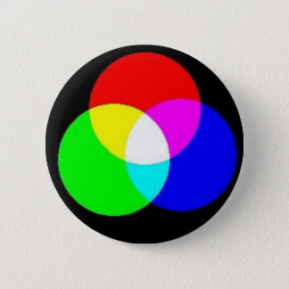 PRIMARY COLORS - EDIT YOUR OWN TEXT OVER THIS PINBACK BUTTON