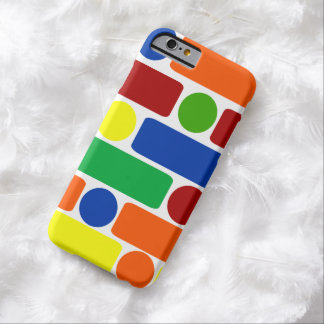 Primary Colors Geometric Shapes iPhone 6 Case