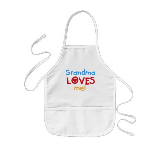 Primary Colors  Grandma Loves Me T-shirts Aprons