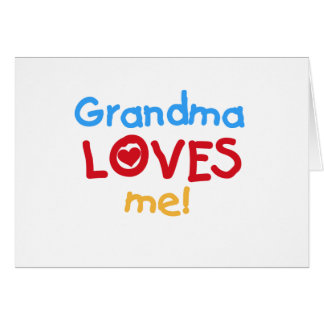Primary Colors  Grandma Loves Me T-shirts Cards