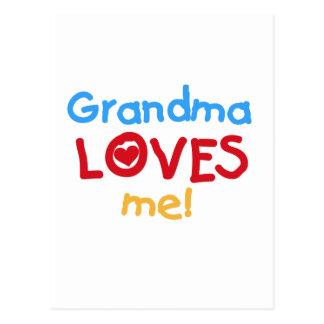 Primary Colors  Grandma Loves Me T-shirts Postcard