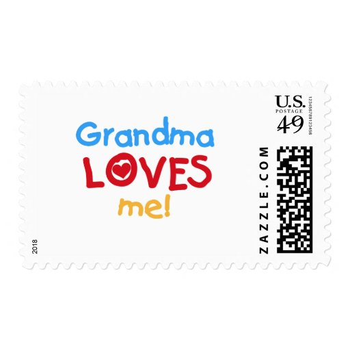 Primary Colors  Grandma Loves Me T-shirts Stamps