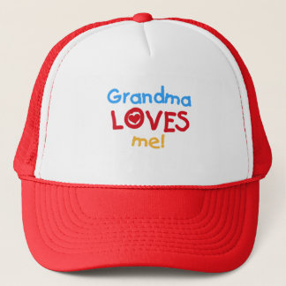 Primary Colors  Grandma Loves Me T-shirts Trucker Hat