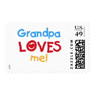 Primary Colors  Grandpa Loves Me Tshirts Stamps