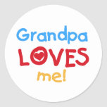Primary Colors  Grandpa Loves Me Tshirts Sticker