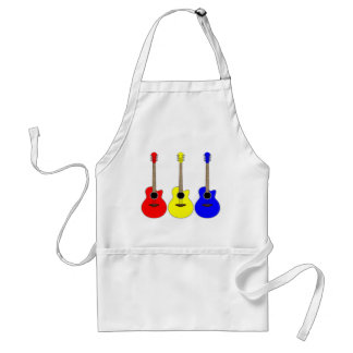 Primary Colors Guitars Vector Pop Art Design Adult Apron