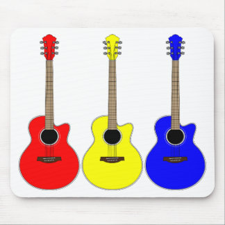 Primary Colors Guitars Vector Pop Art Design Mouse Pads