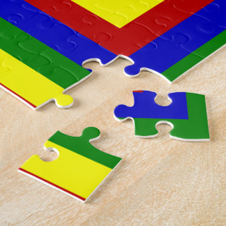 Primary Colors Layered Squares Jigsaw Puzzle