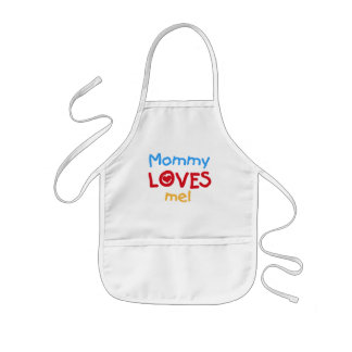 Primary Colors Mommy Loves Me Tshirts and Gifts Kids' Apron
