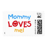 Primary Colors Mommy Loves Me Tshirts and Gifts Stamps