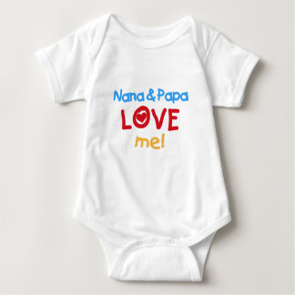 Primary Colors Nana and Papa Love Me Baby Bodysuit