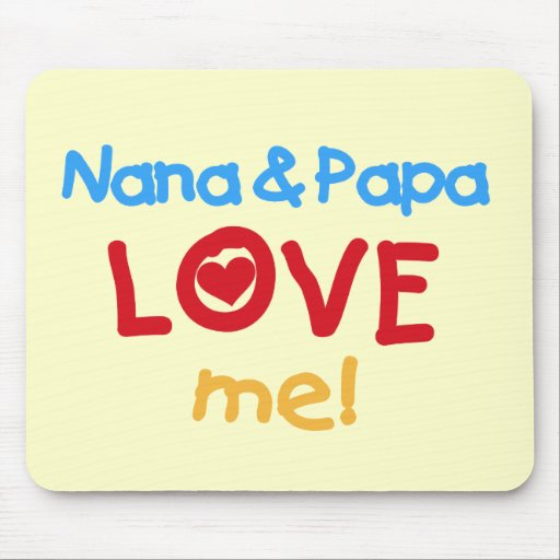 Primary Colors Nana and Papa Love Me Mouse Pad