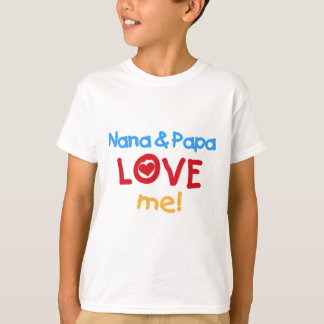 Primary Colors Nana and Papa Love Me T-Shirt
