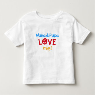 Primary Colors Nana and Papa Love Me Toddler T-shirt