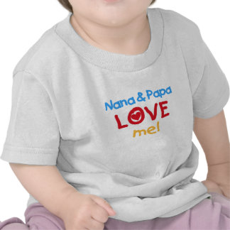 Primary Colors Nana and Papa Love Me Shirts