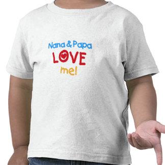 Primary Colors Nana and Papa Love Me Tshirt