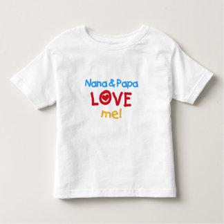 Primary Colors Nana and Papa Love Me Shirt