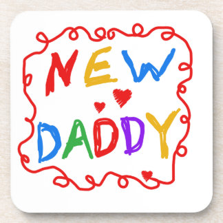 Primary Colors New Daddy Gifts Coaster