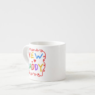 Primary Colors New Daddy Gifts Espresso Mugs