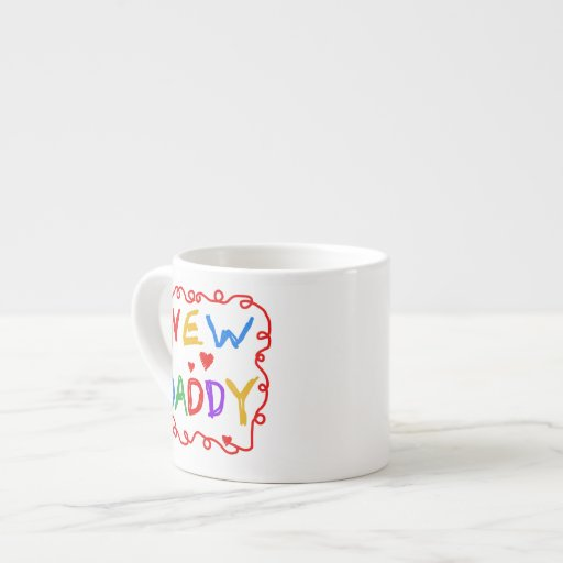 Primary Colors New Daddy Gifts 6 Oz Ceramic Espresso Cup