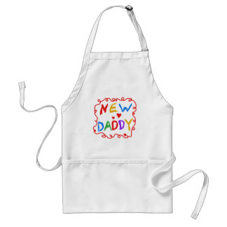 Primary Colors New Daddy Tshirts and Gifts Adult Apron
