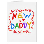Primary Colors New Daddy Tshirts and Gifts Greeting Card