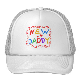 Primary Colors New Daddy Tshirts and Gifts Mesh Hats