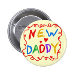 Primary Colors New Daddy Tshirts and Gifts Pins