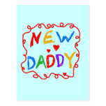 Primary Colors New Daddy Tshirts and Gifts Postcard