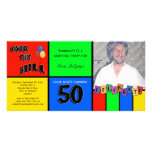 Primary Colors Photo Surprise 50th Birthday Party Photo Cards