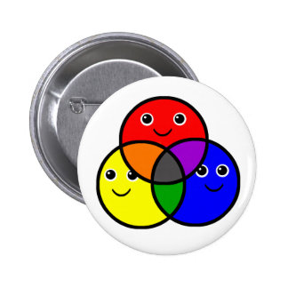 Primary Colors Pinback Buttons