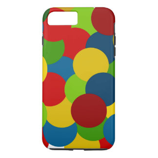 Primary Colors Plus Circles iPhone 8 Plus/7 Plus Case