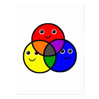 Primary Colors Postcard