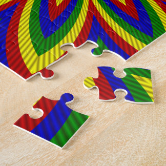 Primary Colors Rolled Flower 2 Jigsaw Puzzle
