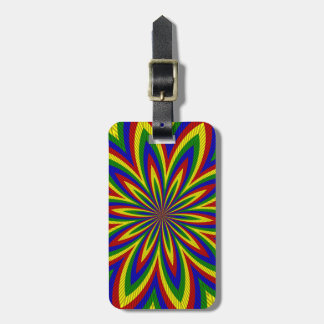 Primary Colors Rolled Flower 2 Luggage Tag