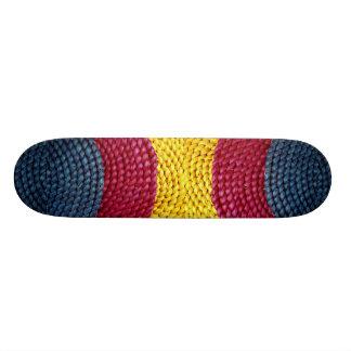 Primary colors skate board deck